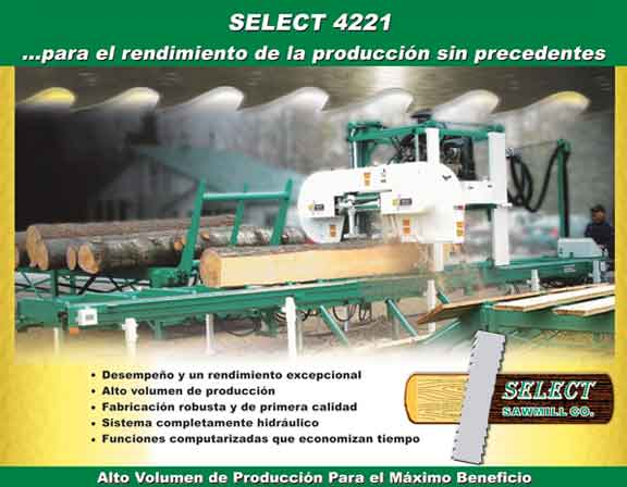 Folleto del Aserradero de SELECT 4221